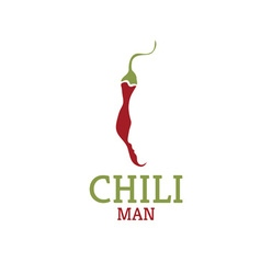 hot chili pepper with face design template vector image
