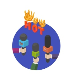 Hot report circle icon vector image