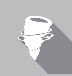 icon tornado with a long shadow vector image