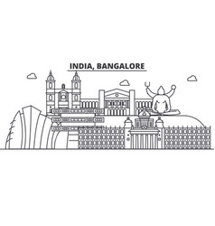India bangalore architecture line skyline vector
