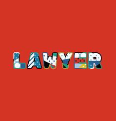 Lawyer concept word art vector