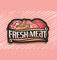 Logo for fresh meat vector