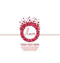 Love with circle on white background vector