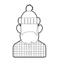 Lumberjack icon outline style vector