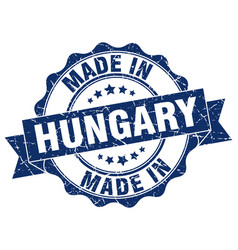 Made in hungary round seal vector