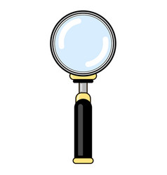 magnifying glass with reflection magnify icon in vector image