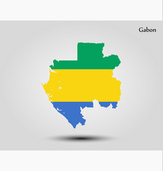 map gabon vector image