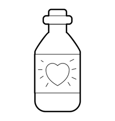 Medicinal drops for heart icon outline style vector