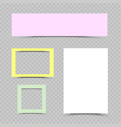 Multicolor paper sheets and frames set vector