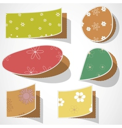 Note papers with flowers vector image