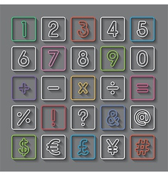 number and symbol vector image