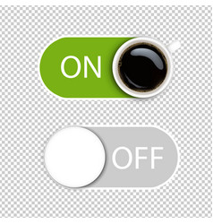 on and off symbol isolated transparent background vector image