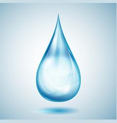 one big blue drop vector image