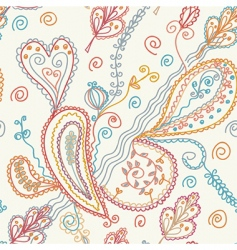 paisley seamless ornate pattern vector image