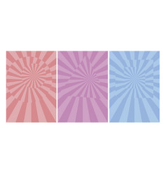 pale color spinning dynamic cover template vector image