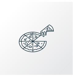 pizza icon line symbol premium quality isolated vector image