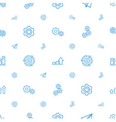 Progress icons pattern seamless white background vector