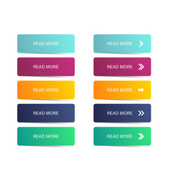 read more button colorful button set symbol read vector image