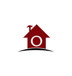 Real estate solution initial o vector