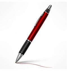 red tilt pen on white vector image