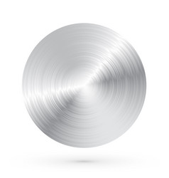 round brushed metal with highlights and shadows vector image