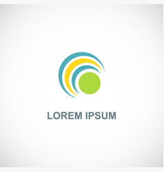 round curve dot logo vector image