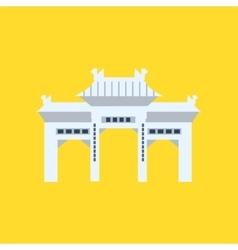 Rsing Shan Monastery Memorial Archway In Hong Kong vector image