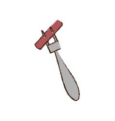 Sausage fork food picnic vector