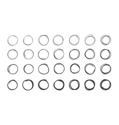 Scribble circle set vector