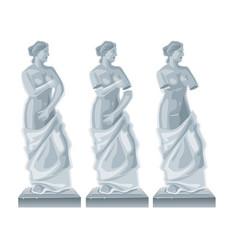 Sculpture venus - goddess love flat vector