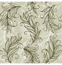 Seamless pattern with amazing feathers and vector image