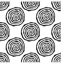 Seamless pattern with annual rings vector