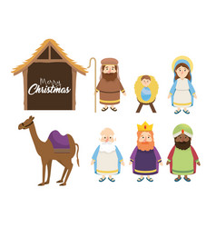 set catholic religion to celebrate happy epiphany vector image