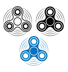 Set of fidget spinner in three different types vector