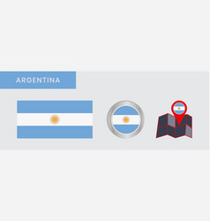 Simple argentina flag was isolated vector