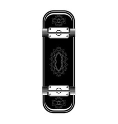 skate board icon isolated vector image