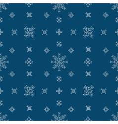 Snowflakes seamless patternBlue snow christmas vector image vector image