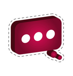 speech bubble comic icon vector image