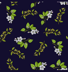 spring blossom seamless pattern vector image