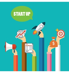 start up business concept flat design vector image