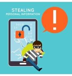 Stealing personal information from your mobile vector image
