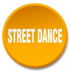 Street dance orange round flat isolated push vector