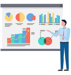 Successful business project presentation company vector