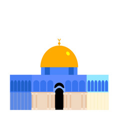 the dome of the rock qubbet el-sakhra vector image
