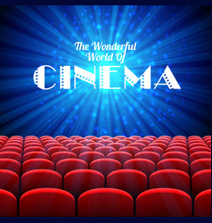 the wonderful world of cinema background with vector image vector image