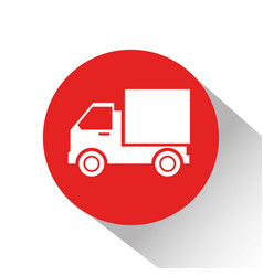 truck delivery service isolated icon vector image