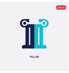 Two color pillar icon from greece concept vector