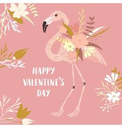 ValentineFlamingo vector image