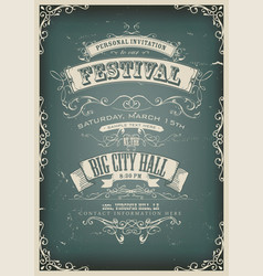 Vintage design invitation poster vector