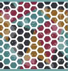 Vintage mosaic seamless pattern grunge effect vector